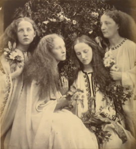 Julia Margaret Cameron :: The Rosebud Garden of Girls :: England :: June 1868 :: Albumen Silver Print :: Copyright The J.Paul Getty Museum, Los Angeles