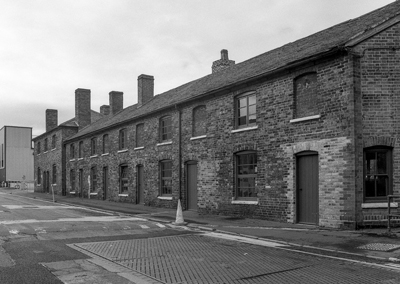"""Soho Foundry - Office Row, Foundry Lane (off), Smethwick  Grade II listed buildings on the Soho Foundry site, Smethwick.   Part of a set of images from my 2011 project, """"A Picture of Smethwick', showing the listed buildings in Smethwick.   Image taken on black and white film, scanned from original negative."""